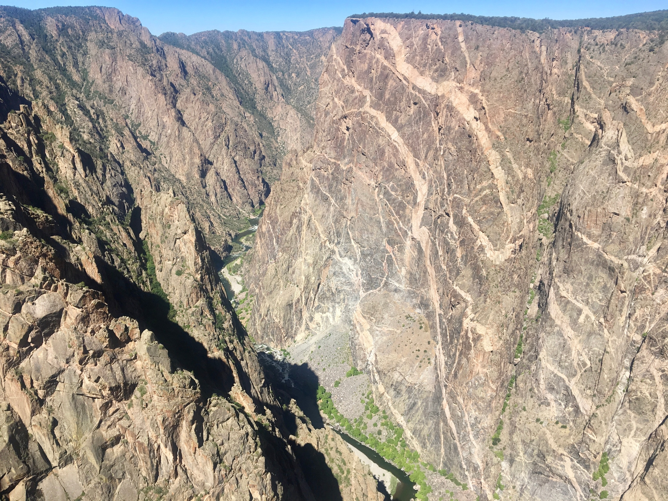 The Painted Wall in Black Canyon of the Gunnison National Park. In 2017, the park used Land and Water Conservation Fund support to purchase 2,494 acres of land that allowed for better access to the park. The reauthorization of the fund moved out of committee and to the U.S. House floor on Thursday, only 17 days before it is set to expire, promising a vote that could keep the 64-year-old fund alive. (Jason Blevins, The Colorado Sun)