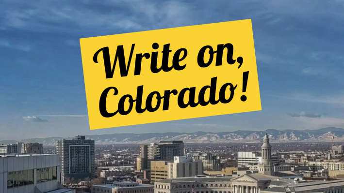 Write On, Colorado logo