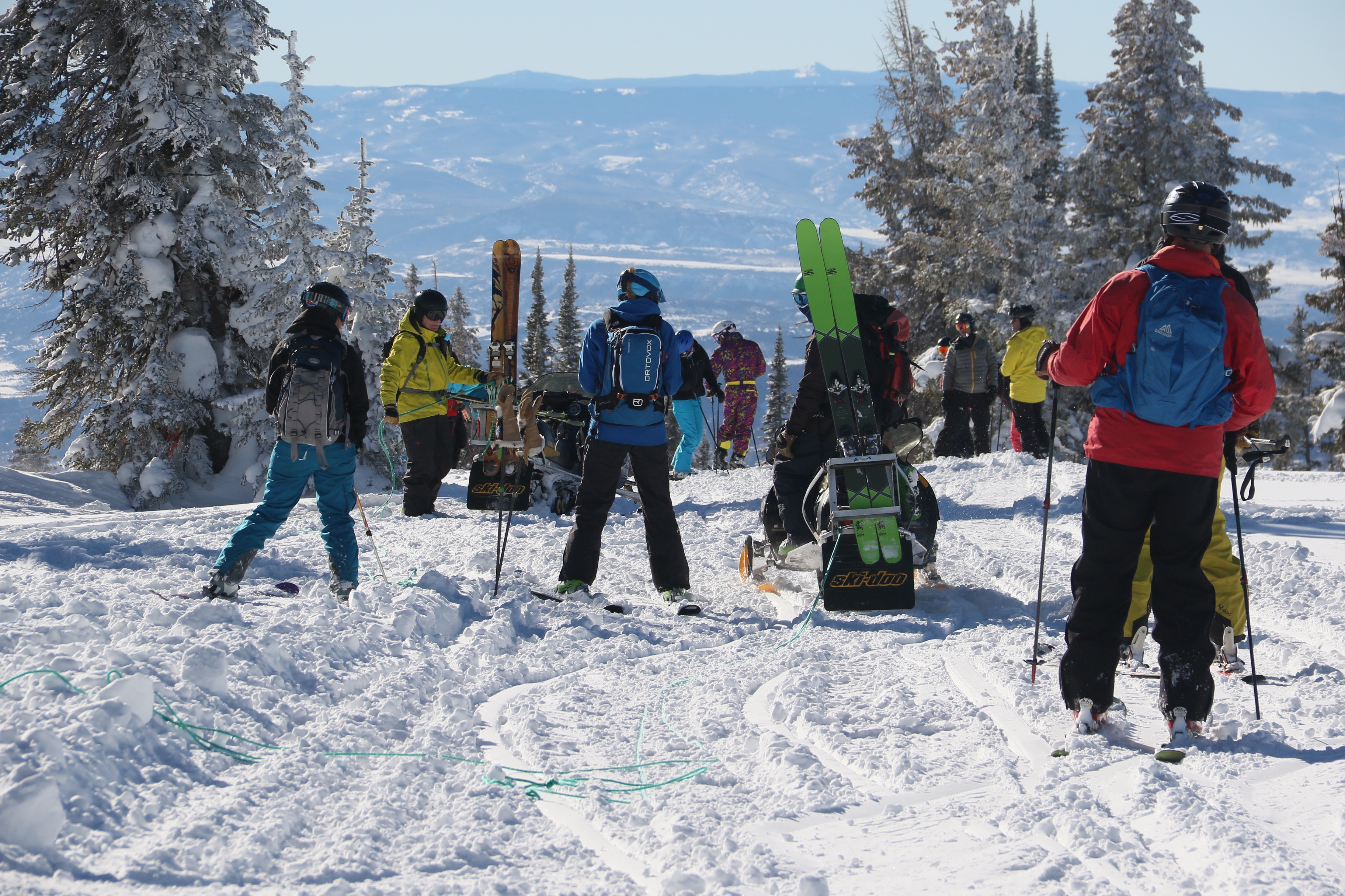 "Steamboat Powdercats has settled a lawsuit against a former guide, arguing he is using the company's ""trade secrets"" in an upcoming guidebook on snowmobile-accessed skiing on Buffalo Pass. The area has seen an increase in the number of skiers using snowmobiles to access remote snowfields. (Provided by Steamboat Powdercats)"