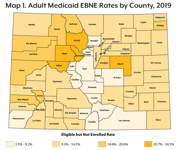 Medicaid Eligible Not Enrolled 2019 Colorado Health Institute