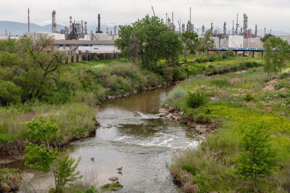 Sand Creek South Platte River Suncor water quality urban corridor