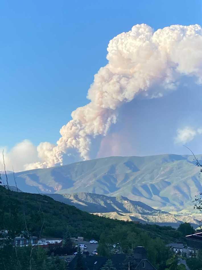 Sylvan Fire wildfires 2021 fires Snowmass Roaring Fork Valley