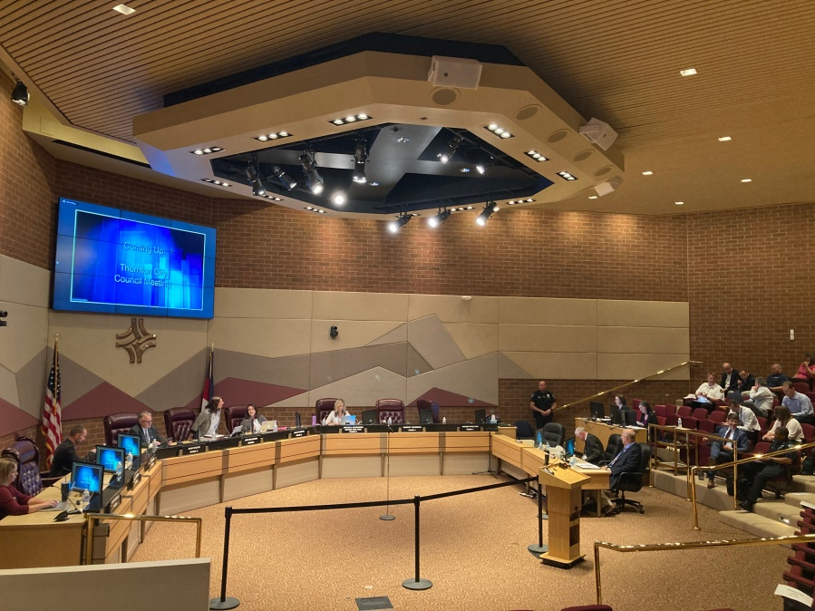Thornton city council chambers