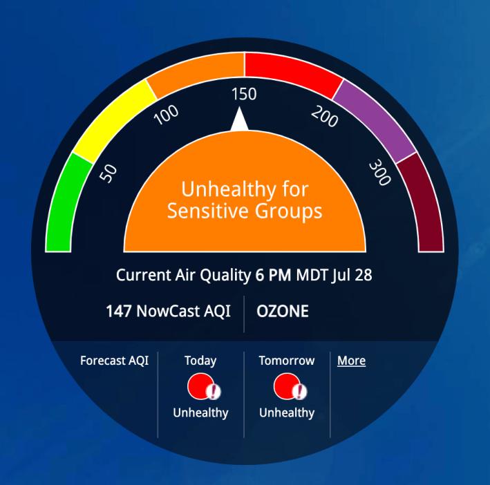 air pollution ozone EPA AirNow