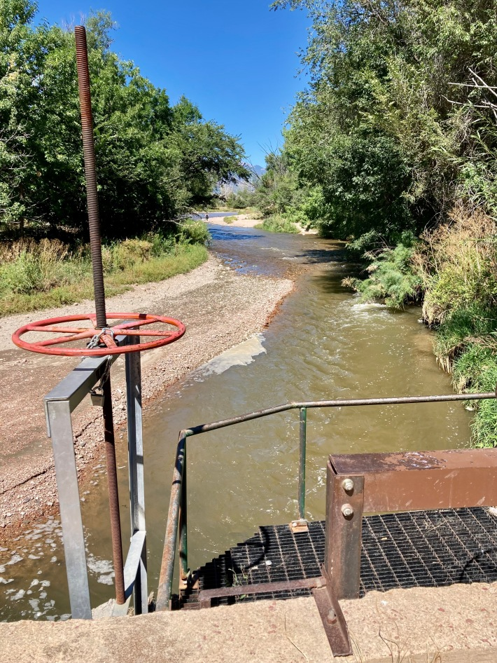 Fountain Creek Chilcott Ditch irrigation water diversion The Loop