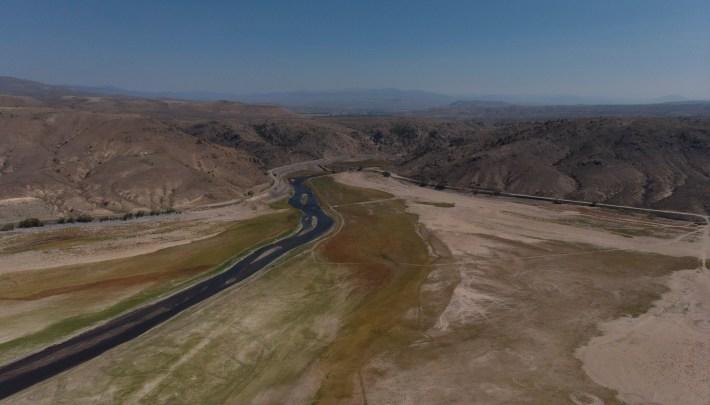 Blue Mesa Reservoir Gunnison drought drawdown marina boats dry megadrought Bureau of Reclamation