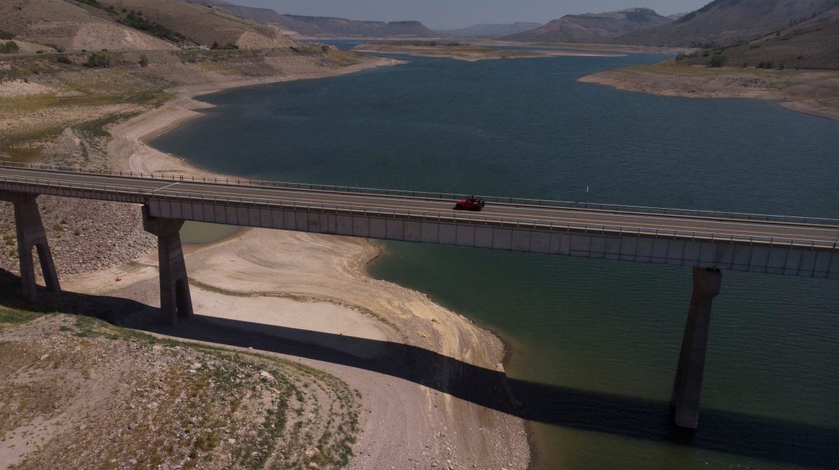 Blue Mesa Reservoir drought megadrought boats marina drawdown Bureau of Reclamation Gunnison River