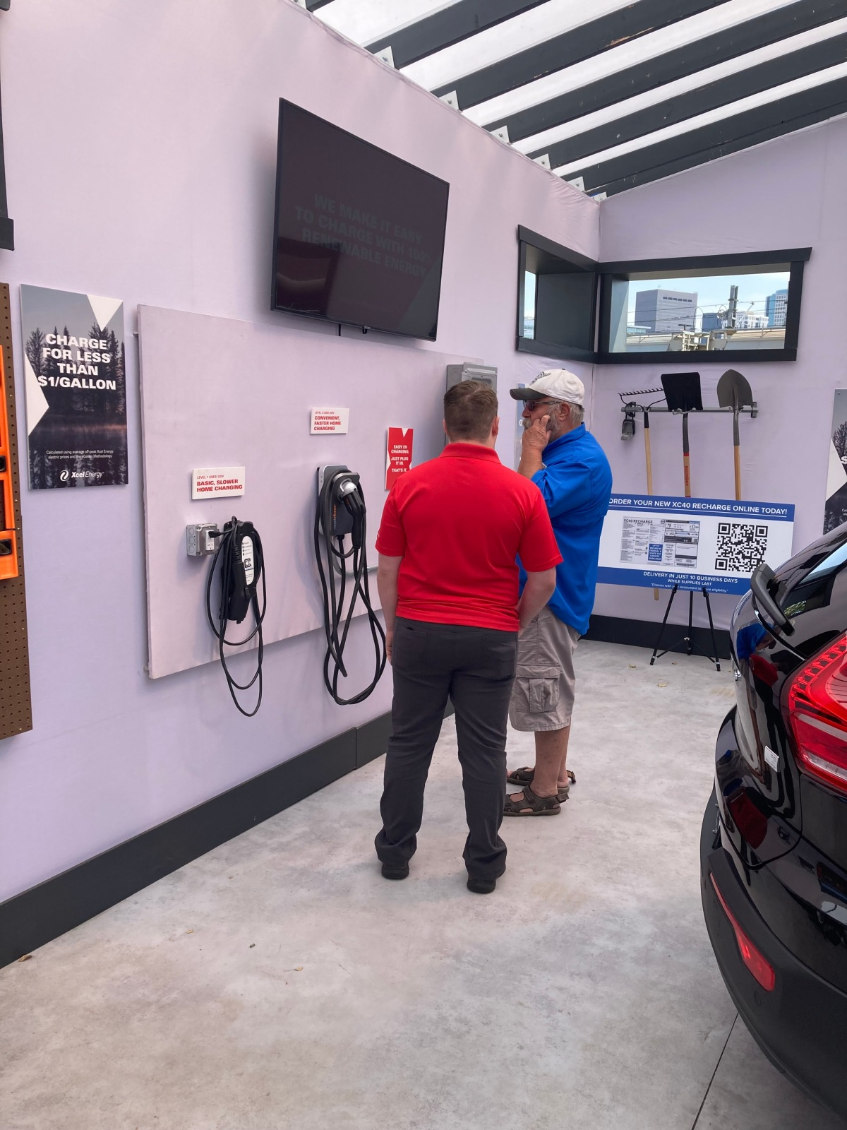 EV chargers Xcel electrification charging stations Auto Show