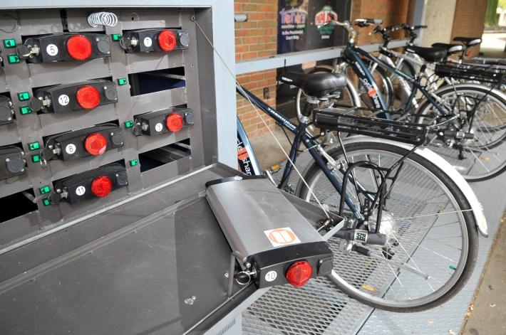 electric bike sharing Denver climate office bike library